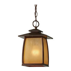 Murray Feiss - 1 Bulb Sorrel Brown Outdoor Lighting - - cUL Damp Approved.