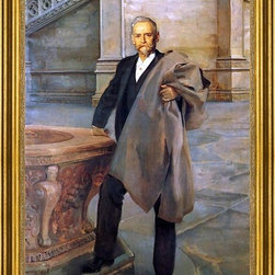 """John Singer Sargent-16""""x24"""" Framed Canvas - 16"""" x 24"""" John Singer Sargent Richard Morris Hunt framed premium canvas print reproduced to meet museum quality standards. Our museum quality canvas prints are produced using high-precision print technology for a more accurate reproduction printed on high quality canvas with fade-resistant, archival inks. Our progressive business model allows us to offer works of art to you at the best wholesale pricing, significantly less than art gallery prices, affordable to all. This artwork is hand stretched onto wooden stretcher bars, then mounted into our 3"""" wide gold finish frame with black panel by one of our expert framers. Our framed canvas print comes with hardware, ready to hang on your wall.  We present a comprehensive collection of exceptional canvas art reproductions by John Singer Sargent."""