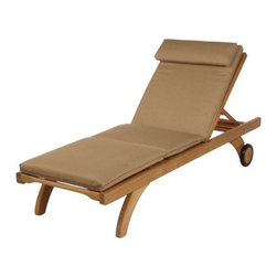 Barlow Tyrie - Lounger Cushion - These cushions have extreme durability, are manufactured to an exacting standard and only the highest quality materials are used. Using Sunbrella allows the cushions to remain on the furniture for long periods without the need to be stored away each night. They will withstand sun, wind and rain without damage, though we do advise storing them during prolonged periods of wet weather. If they become wet we suggest standing them on edge to speed the drying process. The cushions will retain their strength and rich color for years to come. These luxurious but practical accessories will heighten the enjoyment of your outdoor living. Choose from the rich solid colors of Forest Green, Navy Blue, the soft 'earth' color Pepper, or stunning White Sand. All the cushions are fully zipped allowing the covers to be removed if required. Features: -Material: Sunbrella fabric. -Piped with matching braided cord. -Fits: Capri Base Lounger, Capri Standard Lounger, Equinox Lounger, Monaco Lounger, and Virage Lounger (1CAB, 1CAS, 1EQLT, 1MOL, 1VIL). -Add comfort and a touch of elegance to your leisure hours.-Enhance the classic lines of solid teak outdoor furniture. About Barlow Tyrie We invite you to browse through our fine teak furniture and hope that it will give you inspiration when planning your outdoor room. As you spend more of your leisure time in the garden, both relaxing and entertaining, it is increasingly important that your outdoor environment is comfortable, functional, and visually pleasing. We combine many years of manufacturing experience with the best materials and design excellence to achieve these criteria perfectly. We are very proud of the quality of our furniture and we hope that you will choose to become one of our valued customers.