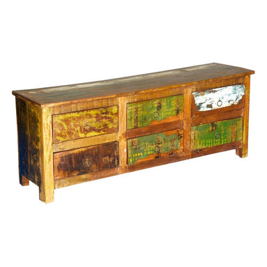 Sierra Living Concepts - Julian Reclaimed Wood 6 Drawer Dresser Chest - The classic mission style brings forth memories of a simple life filled with purpose. Our Julian Mission Six Drawer Dresser captures the spirit of easy comfort and proud history because its built with reclaimed wood from Gujarat. The surfaces of old wood are seasoned over time and naturally distressed.