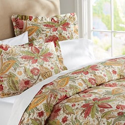 Courtney Floral Organic Duvet Cover, Twin