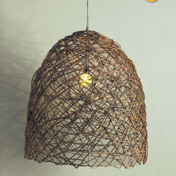 Bobo Intriguing Objects Egg Branch Chandelier - This gorgeous pendant is made from fallen branches.
