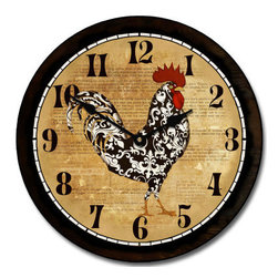 """Tyler - Rooster Clock Kitchen, 18"""" - Made in the USA-Made When Ordered"""