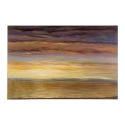 Uttermost Spacious Skies Hand Painted Wall Art - Frameless - canvas over wooden stretchers. This serene hand painted oil on canvas is stretched and attached to wood stretching bars. Due to the handcrafted nature of this artwork, each piece may have subtle differences.