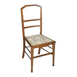 Antiques - Antique Walnut English Art Deco Side Chair - Origin: England