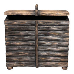 BoBo's Intriguing Objects - Log Box - Long on whimsical charm, this hand-crafted piece takes its cue from a French antique used, literally, for firewood. You can follow suit or fill with whatever else you need stylishly, handily stored in your favorite traditional setting.