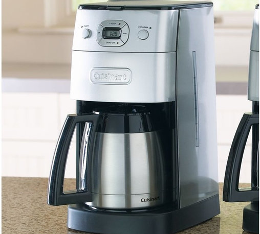 Cuisinart Automatic Grind & Brew Thermal 10-Cup Coffee Maker - The one we use every day to wake us up. Having the coffee ground just before brewing is amazing, never disappoints and keeps on working. Keeps the coffee hot well into the afternoon.