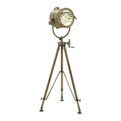 "BZBZ46688 - Tripod Spot Light Adjustable Lamp with Handle - Tripod spot light adjustable lamp with handle. This tripod spotlight produces optimal lighting effect. It comes with the following dimensions: 26"" W x 26"" D x 58"" H. 12"" W x 12"" D x 11"" H."