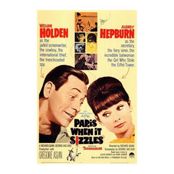 Paris When It Sizzles 27 x 40 Movie Poster - Style A - Paris When It Sizzles 27 x 40 Movie Poster - Style A William Holden, Audrey Hepburn, Gregoire Aslan, Raymond Bussieres, Tony Curtis, Fred Astaire, Frank Sinatra, Noel Coward, Marlene Dietrich, Mel Ferrer. Directed By: Richard Quine. Written By: George Axelrod. Cinematography By: Charles B(ryant) Lang Jr.. Music By: Nelson Riddle. Producer: Paramount Pictures.