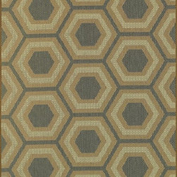 """Loloi - Indoor/Outdoor Capri 2'4""""x3'9"""" Rectangle Blue-Beige Area Rug - The Capri area rug Collection offers an affordable assortment of Indoor/Outdoor stylings. Capri features a blend of natural Blue-Beige color. Machine Made of Polypropylene the Capri Collection is an intriguing compliment to any decor."""