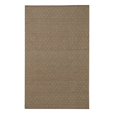 """Diamond rug in Coffee - Sister to our """"Chevron"""" natural rug. Diamond debuts in a range of soft and serene tones."""