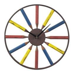 Sterling Industries - Sterling Industries Pencil Wall Clock (129-1049) - Sterling Industries Pencil Wall Clock (129-1049)