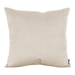"Howard Elliott Bella Sand 20"" x 20"" Pillow - Change up color themes or add pop to a simple sofa or bedding display by piling up the pillows in a multitude of colors, textures and patterns. This Bella pillow features a lush velvet in a lovely neutral sand. This Bella Sand piece is 100% polyester finished in bold neutral sand."