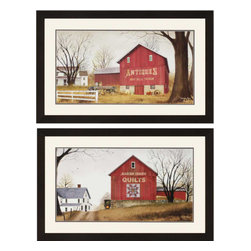 Paragon - Antique/Quilt Barns PK/2 - Framed Art - Each product is custom made upon order so there might be small variations from the picture displayed. No two pieces are exactly alike.