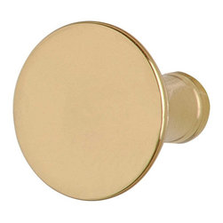 """Renovators Supply - Cabinet Knobs Bright Solid Brass Pedestal Cabinet Knob 1 1/4"""" - Easy to grasp, this knob is protected with our tarnish free RSF finish. Measures 1 1/4 in. diameter, 1 1/8 projection, 1/2 inch diameter back."""
