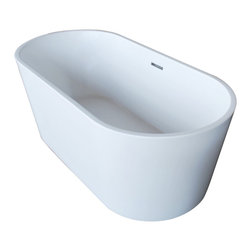 Venzi - Venzi Vida Collection 32 x 67 Oval Acrylic Freestanding Bathtub - Allow yourself the pleasure of soaking in a luxuriously designed freestanding bathtub. Ergonomically crafted from high grade acrylic for a rich immersive experience. The light weight, one piece design allows for an easier standard installation process.