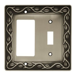 Liberty Hardware - Liberty Hardware 64192 Leaf and Vine WP Collection 4.96 Inch Switch Plate - Brus - A simple change can make a huge impact on the look and feel of any room. Change out your old wall plates and give any room a brand new feel. Experience the look of a quality Liberty Hardware wall plate.. Width - 4.96 Inch,Height - 4.9 Inch,Projection - 0.3 Inch,Finish - Brushed Satin Pewter,Weight - 0.49 Lbs