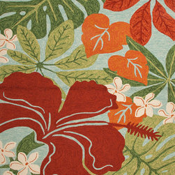 Jaipur Rugs - Solid Pattern Red /Orange Indoor/ Outdoor Rug - CI20, 7.6x9.6 - Navigate towards a fresh new approach to indoor-outdoor rugs with Jaipur's cheerful Coastal Living Indoor-Outdoor Collection. This bold range takes its styling cues from the ruggedly chic aesthetic of a casual seaside lifestyle. Polypropylene construction allows the durability needed for outdoor use and a relaxed sense of style equally at home, indoors or out.