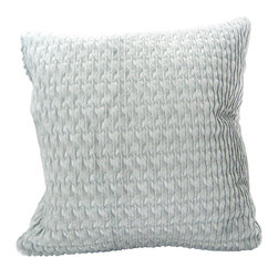 Fandindo Textiles LLC - Lianas Pillow - Do glow on! Seriously: This pillow is woven with a luminous blend of fibers into an almost three-dimensional pattern that seems to shimmer in pale silver. You may find that it sparks conversation simply by sitting quietly on your sofa.