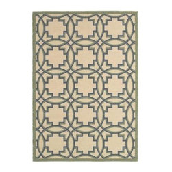 LR Resources - Area Rug: Lanai Cream and Green 5' x 8' Plush Outdoor - Shop for Flooring at The Home Depot. This Lanai rug is a great way to define an outdoor dining area or conversational space. Made from natural polyester and hand looped. Designs are beautiful with an artistic edge. Compliments a variety of patio furnishings and decor for any home.
