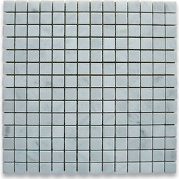 "Stone Center Corp - Carrara Marble Square Mosaic Tile 3/4x3/4 Polished - Carrara white marble 3/4"" x 3/4"" square pieces mounted on 12"" x 12"" sturdy mesh tile sheet"