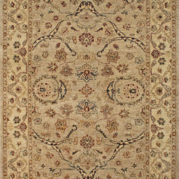 "Pakistan, Oushak - Pakistan Handmade Wool Oriental Rug 6' 1"" X 8' 10"" - Original Hand made rugs from Michael rugs collections. Choose from our wide selection of hand-woven, hand-knotted rugs will help you find the right match to your taste preferences, colors, design and style."
