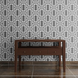 Doheny Wallpaper by Jeff Lewis Design - Did you admire the new wallpaper in Jeff Lewis's rental house on Flipping Out? This modern geometric design is a perfect way to pack a big design punch on an accent wall. Available in several colors.