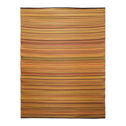 KOKO - Melange Floor Mat, Ginger Orange Mix, 6' x 8' - The colors of this floor mat are a pretty addition to any casual area, indoors or out. You'll love the look — and the easy care: just hose clean and drip dry.