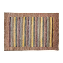 1800-Get-A-Rug - Hand Knotted Rug Striped Colorful Modern Gabbeh Sh9491 - About Modern & Contemporary