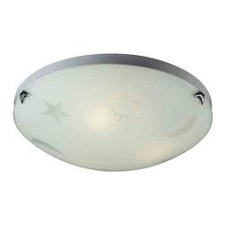 ELK Lighting - ELK Lighting 5088/3 Novelty Satin Nickel Flush Mount - ELK Lighting 5088/3 Novelty Satin Nickel Flush Mount