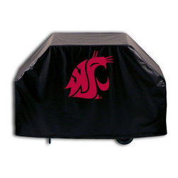 "Holland Bar Stool - Holland Bar Stool GC-WashSt Washington State Grill Cover - GC-WashSt Washington State Grill Cover belongs to College Collection by Holland Bar Stool This Washington State grill cover by HBS is hand-made in the USA; using the finest commercial grade vinyl and utilizing a step-by-step screen print process to give you the most detailed logo possible. UV resistant inks are used to ensure exeptional durablilty to direct sun exposure. This product is Officially Licensed, so you can show your pride while protecting your grill from the elements of nature. Keep your grill protected and support your team with the help of Covers by HBS!"" Grill Cover (1)"