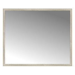"""Posters 2 Prints, LLC - 71"""" x 59"""" Libretto Antique Silver Custom Framed Mirror - 71"""" x 59"""" Custom Framed Mirror made by Posters 2 Prints. Standard glass with unrivaled selection of crafted mirror frames.  Protected with category II safety backing to keep glass fragments together should the mirror be accidentally broken.  Safe arrival guaranteed.  Made in the United States of America"""
