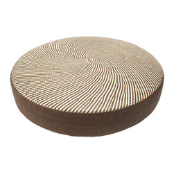 Stools, Bean Bags & Floor Cushions - Hand woven from Pandan (palm like fern) in alternating color natural and brown this high end floor pillow not only offers a casual sitting option but also a decorative piece of furniture for any room in your home.