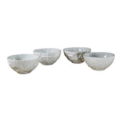 Montes Doggett - Handmade Assorted Cereal Bowls, Set of 4 - Each of these handmade ceramic bowls is unique and stands as its own work of art. Who wouldn't want to wake up to a bowl of oatmeal or your favorite cold cereal in one of these? And they are as versatile as they are beautiful since they are safe for the microwave, oven and dishwasher!