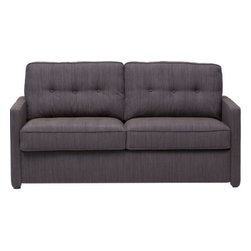 Nathan Two-seater Sleeper - This sweet and small sleeper sofa has minimal arms to maintain a tiny profile while also leaving plenty of sleeping space. I'd use one in my office for spill-over guests.