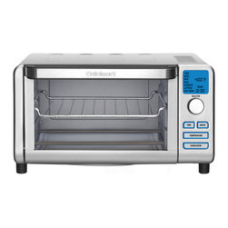 Cuisinart - Cuisinart TOB-100 Compact Digital Toaster Oven - Make a delicious sandwich or keep your leftovers warm with this toaster oven broiler from Cuisinart. This toaster oven includes a baking tray,broiling rack and recipe book.