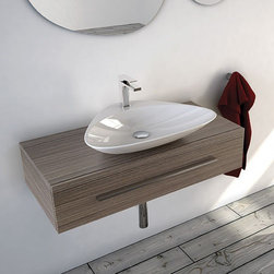 ArtCeram - Mall Vanity   ArtCeram - Made in Italy by Art Ceram.The Mall Vanity brings simple utility to modern bathrooms in need of an upgrade. The clean lines and easy-to-utilize construction of this contemporary vanity will add function and beauty to bath spaces. The long ergonomic handle adds modern appeal while the large drawer adds much needed storage capacity to smaller bathrooms. Combine with a vessel or countertop installed sink and faucet to create the modern bathroom of your dreams. Product Features: