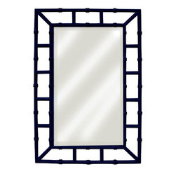 EuroLux Home - Painted Hardwood Island Mirror, Black - Product Details