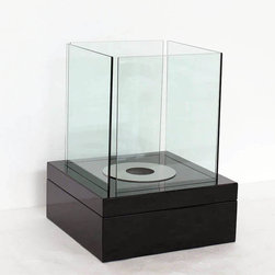 "Cube - Modern Ventless Free Standing Ethanol Fireplace - "" CUBE ""  Table Top Ventless Ethanol Fireplace"