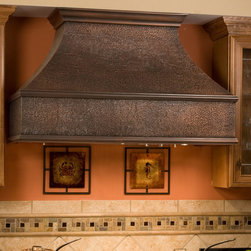 "48"" Tuscan Series Copper Wall-Mount Range Hood - Add the stunning 48"" Tuscan Series Copper Wall-Mount Range Hood to complete your gourmet kitchen."