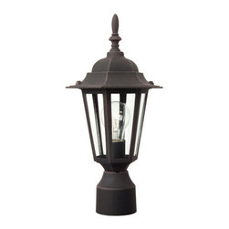Craftmade - Craftmade Z155 Single Light Up Lighting Outdoor Post Light from the Hex Collecti - Single Light Small Outdoor Post Light from the Hex Collection