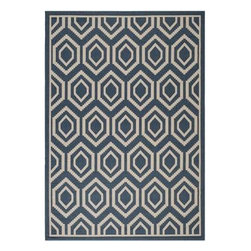"Safavieh - Safavieh Courtyard CY6902-268 7'10"" Square Blue, Ivory Rug - Safavieh's Courtyard collection was created for today's indoor/outdoor lifestyle. These beautiful but practical rugs take outdoor decorating to the next level with new designs in fashion-forward colors and patterns from classic to contemporary. Made in Turkey with enhanced polypropylene for extra durability, Courtyard rugs are pre-coordinated to work together in related spaces inside or outside the home."