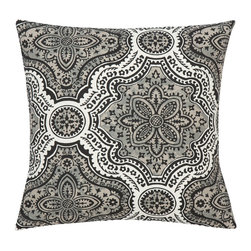 Look Here Jane, LLC - Dakota Charcoal Pillow Cover - PILLOW COVER