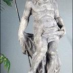 "Neptune Statue - Dimensions: 60"" H Base 16"" x 16"""