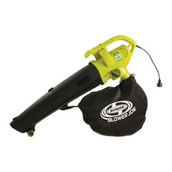 Snow Joe - 3-in-1 Electric Blower Vacuum And Leaf Shredder - Powerful, reliable and effective, the Sun Joe Blower Joe 3-in-1 Blower, Vacuum, and Leaf Shredder makes yard work fun and easy.  The Blower Joe SBJ604E has the versatility to change jobs with the flip of a switch.  Easily convert your tool from a powerful 200MPH blower to an effective 10:1 ratio mulching vacuum.  This electric blower vac is lighter, quieter, and cleaner than similar gas blowers.  And with a sleek ergonomical design, it's a tool that is easy to use and will grab your neighbor's attention.