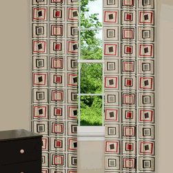 Don't Be Square Curtains - These curtains have a colorful geometric pattern that gives it a retro feel.