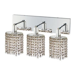 Lighting By Pecaso - Wiatt Wall Fixture Oblong Canopy D14.5x4.5 H13.5 Ellipse Pendant Lt:3 Chrome - Extension 6, ChainWire Incuded  NA, Bulb Type GU10, Bulb Wattage 50, Max Wattage 150, Voltage 110V125V, Finish Chrome, UL  Ulc Standard  YES, UL  Ulc Standard  YES