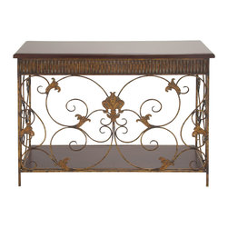 Cool Fancy Metal Wood Console Table - Description: