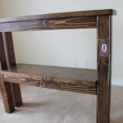 """James+James Sofa/Entry Table - 42"""" tall, 4ft wide, sofa/entrway/buffet table. Hand-built from solid wood."""