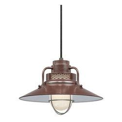 """Millennium Lighting - Millennium Lighting RRRC14 R Series 1 Light 14"""" Wide Cord Hung Pendant - Features:"""